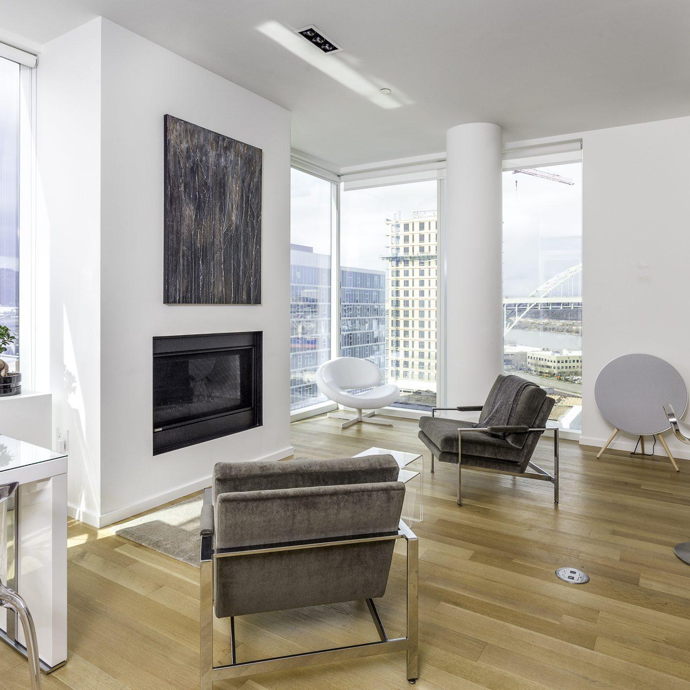 Living Room in a Portland Cosmopolitan Condo